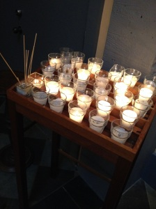 candles on stand pic